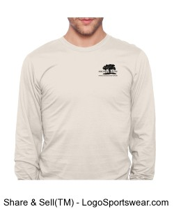American Apparel Organic Fine Jersey Long Sleeve T-Shirt Design Zoom