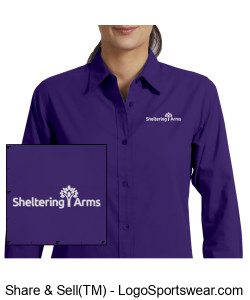 Ladies Long Sleeve Easy Care Sheltering Arms Shirt Design Zoom