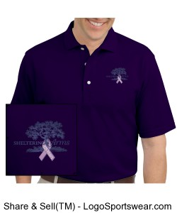 125th Anniversary Men's Polo in purple Design Zoom