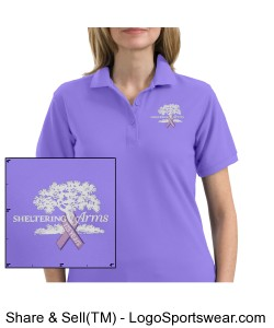 Ladies Silk Touch Sport Shirt.  Design Zoom